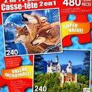 LPF Winter Call - Neuschwanstein Castle, Bavaria - Total 480 Piece 2 in 1 Jigsaw Puzzles