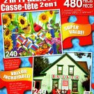 The Quilting Bee - Colorful Quilt Shop, Mahone Bay, Nova Scotia, Canada - 480 Piece 2 in 1 Puzzles