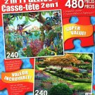 LPF Pegasus - Butchart Gardens, BC, Canada - Total 480 Piece 2 in 1 Jigsaw Puzzles