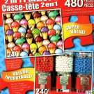 LPF We All Scream for Ice Cream - Bubble Gum Machines - Total 480 Piece 2 in 1 Jigsaw Puzzles