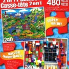LPF Greens by The Sea - Lobster Shed, Newcastle Main - Total 480 Piece 2 in 1 Jigsaw Puzzles