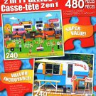 LPF Summer Day - Ice Cream Trailer - Total 480 Piece 2 in 1 Jigsaw Puzzles