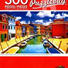 Colorful Houses and Boats, Burano Canal, Italy - PuzzleBug - 300 Pieces Jigsaw Puzzle