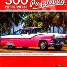 Beautiful American Pink Vintage Car in Varadero Cuba - PuzzleBug - 300 Pieces Jigsaw Puzzle