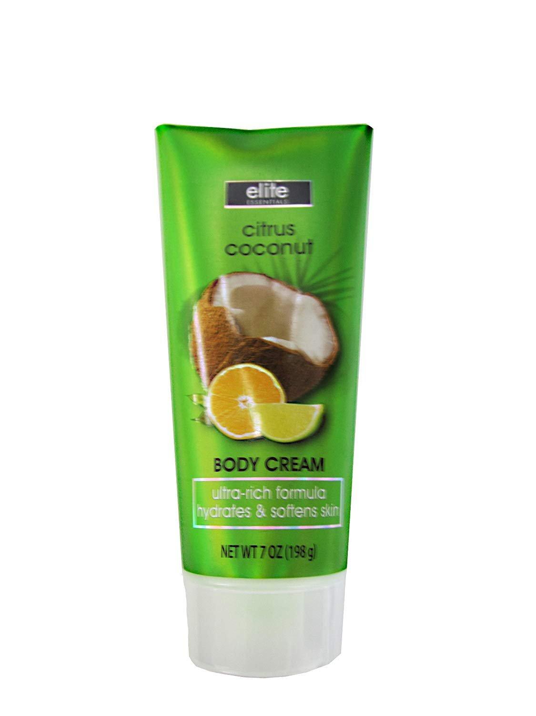New Elite Essentials Citrus Coconut Body Cream 7.0 Oz 1 Pack