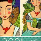 Cardinal Industries Girl with Parrots - 300 Piece Jigsaw Puzzle - p007