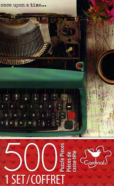 Cardinal Vintage Typewriter - 500 Piece Jigsaw Puzzle - p007