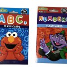 Sesame Set of 4 Street Flash Cards Kindergarten (KG) Pre K - Elmo, Cookie Monster, Abby Count