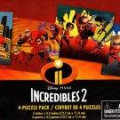 Disney Pixar Incredibles 2 - 12 Piece Jigsaw Puzzle (Set of 4 Different Puzzles) - v1