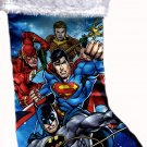 "DC Comics Justice League - 18"" Full Printed Satin Christmas Stocking with Plush Cuff - v3"