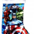 "Marvel Avengers - 18"" Full Printed Satin Christmas Stocking with Plush Cuff - v1"