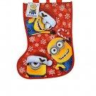 Christmas Stocking Shaped Reusable Tote Gift Bag (Minions)