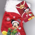 Disney Mickey Mouse Mini Christmas Holiday Stocking (8 Inches, Red)
