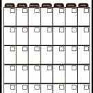 Magnetic Dry Erase Calendar - Monthly Planner/Locker Wallpaper - (Full Sheet Magnetic) (Black)