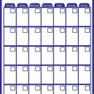 Magnetic Dry Erase Calendar - Monthly Planner/Locker Wallpaper - (Full Sheet Magnetic) (Blue)