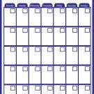 Magnetic Dry Erase Calendar - Monthly Planner/Locker Wallpaper - (Full Sheet Magnetic) (Blue)