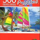 Cra-Z-Art Colorful Saiboats on a Beach - 500 Piece Jigsaw Puzzle