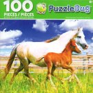 Welsh Mountain Pony Mother and Foal - PuzzleBug - 100 Piece Jigsaw Puzzle