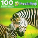 Zebra Mather and Foal - PuzzleBug - 100 Piece Jigsaw Puzzle