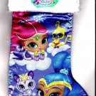 "Nickelodeon Shimmer & Shine - 18"" Full Printed Satin Christmas Stocking with Plush Cuff - v3"