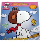 Peanuts Snoopy Woodstock Color and Read Along Two Item Bundle With 8 Crayons