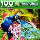 Puzzlebug Beautifyl Peacock Up Close 100 Piece Jigsaw Puzzle