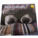 2019 16 Month Wall Calendar with 240 Reminder Stickers (2019 Best Friends Puppies)