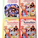 My Build-a-Bible Christian Theme 4 Pack Coloring Book Set: Bible Stories: (Assorted Titles)