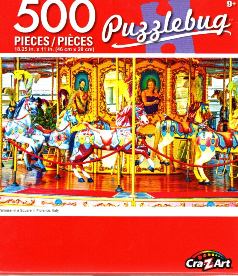 Cra-Z-Art Carousel in Square in Florence, Italy - 500 Piece Jigsaw Puzzle