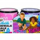 RoseArt Washable Sidewalk Chalk Paint (2 Count), Neon Pink/Purple