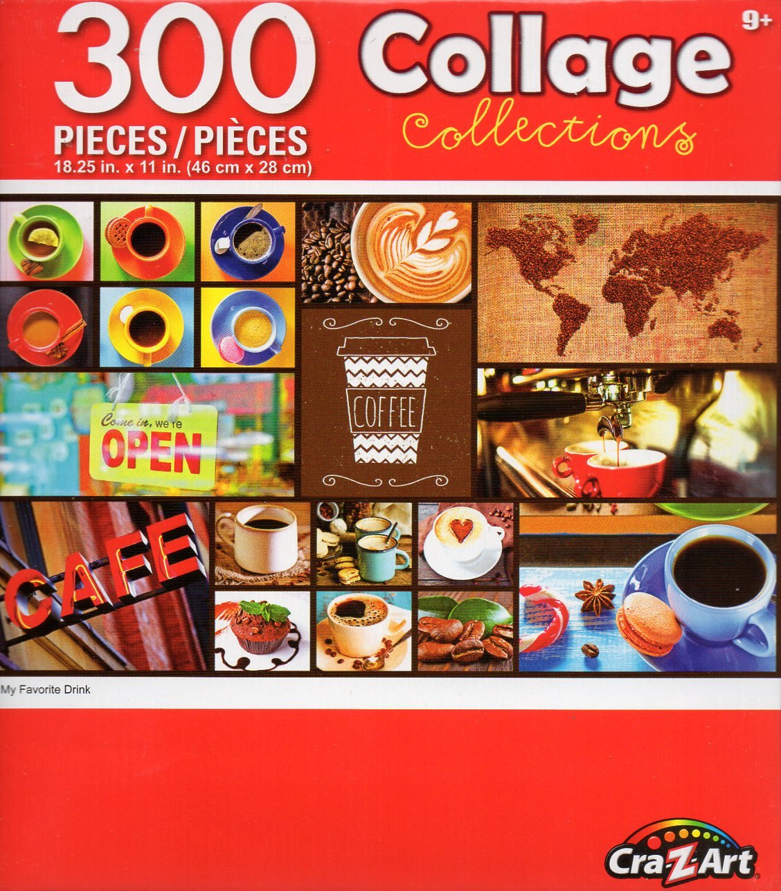 Cra-Z-Art Collage Collections - My Favorite Drink - 300 Piece Jigsaw Puzzle 001