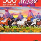 Artbox Indian Ponies by John Crisp - 500 Piece Jigsaw Puzzle