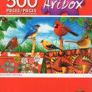 Cra-Z-Art Artbox Birds and Quilts by Corinne Ferguson- 500 Piece Jigsaw Puzzle