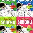 Large Print Sudoku Puzzle - Easy - Medium - All New Puzzles - (2018) - Vol.7 - 10 (Set of 4 books)