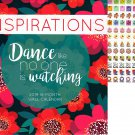 Vista 2019 Inspirations - 16 Month Wall Calendar + 120 Reminder Stickers