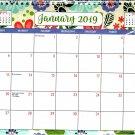 2019 Spiral Bound Calendar (Essentials 2019 Calendar Collection) - 12 Months Desktop - (Edition #3)