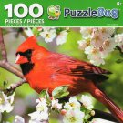 Cra-Z-Art Red Cardinal - Puzzlebug - 100 Piece Jigsaw Puzzle