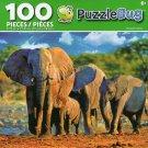 Cra-Z-Art Elephant Family - Puzzlebug - 100 Piece Jigsaw Puzzle