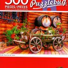 Cra-Z-Art Wooden Wheel Cart with Flowers - 500 Piece Jigsaw Puzzle - p005