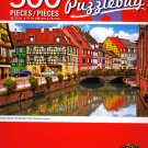 Cra-Z-Art Colorful Street with Beautiful Half - Timbered Houses - 500 Piece Jigsaw Puzzle - p005