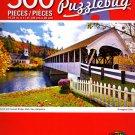 Cra-Z-Art Church and Covered Bridge, Stark, New Hampshire - 500 Piece Jigsaw Puzzle - p005