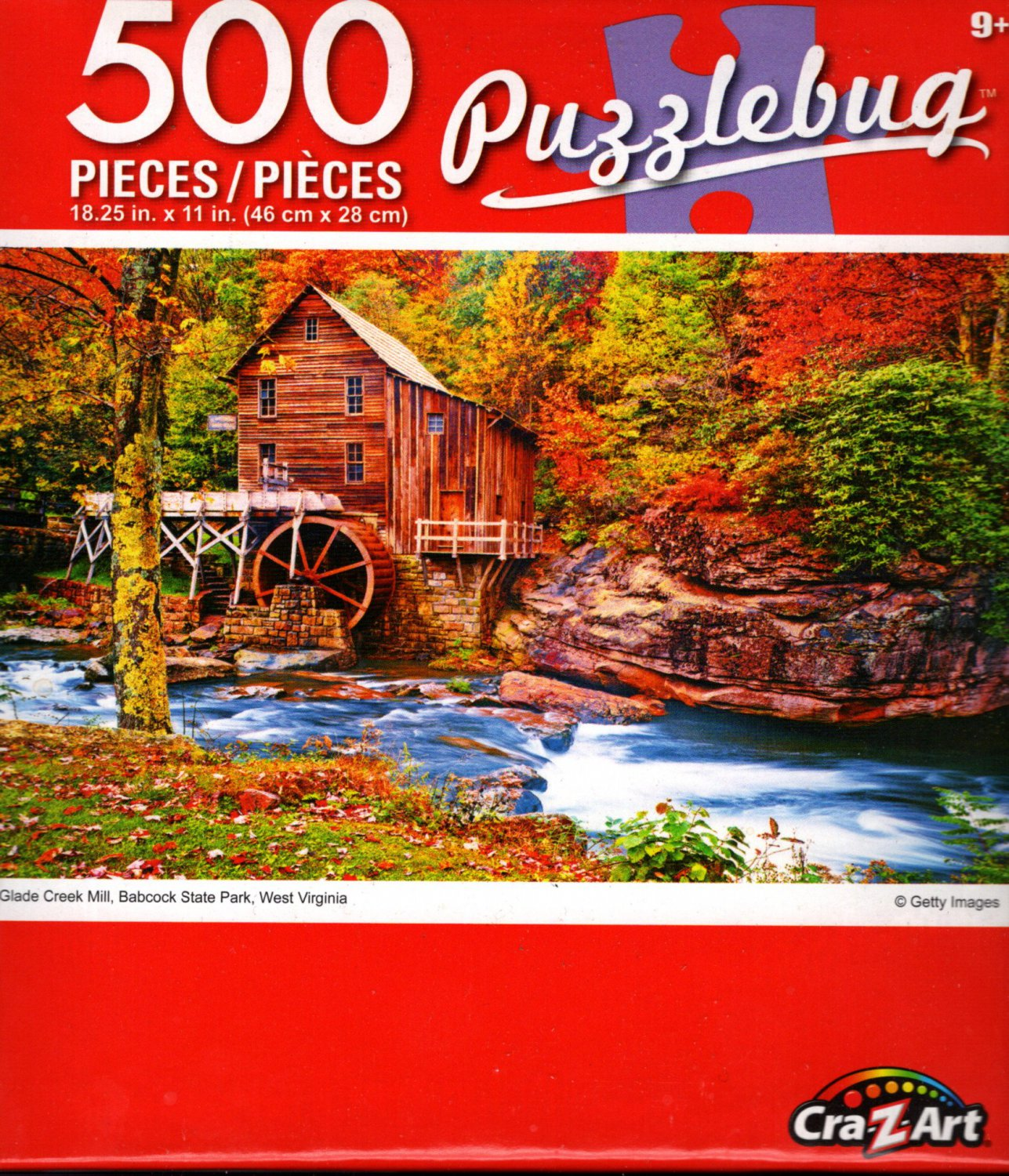 Glade Creek Mill, Babcock State Park, West Virginia - 500 Piece Jigsaw Puzzle - p005