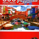 Bridge and Canal with Colorful Houses  - 500 Piece Jigsaw Puzzle - p010