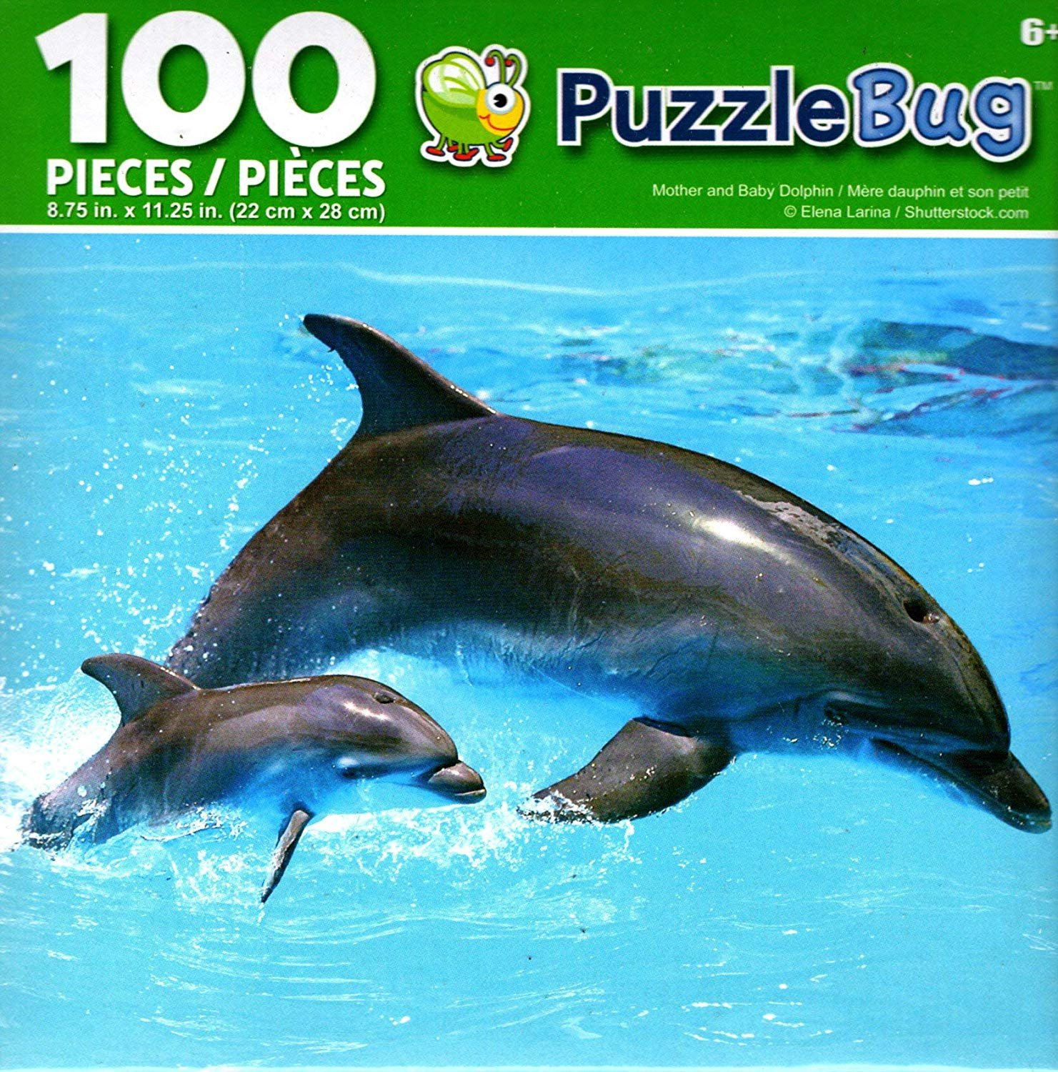 Cra-Z-Art Mother and Baby Dolphin - Puzzlebug - 100 Piece Jigsaw Puzzle