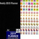 2019 Weekly Pocket Appointment Planner/Calendar/Organizer - Color(Black)  - with 120 Stickers
