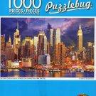 Manhattan Midtown Skyline at Twilight Over Hudson River New York City - 1000 Piece Jigsaw Puzzle