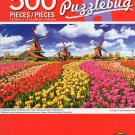 Cra-Z-Art Traditional Dutch Windmils with Tulips, Zaanse Schans, Natherlands - Puzzlebug - 500 Piece