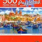 Cra-Z-Art Mediterranean Fishing Village of Marsaxiookk, Malta - Puzzlebug - 500 Piece Jigsaw Puzzle