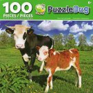 Cra-Z-Art Baby Calf and Mather - Puzzlebug - 100 Piece Jigsaw Puzzle