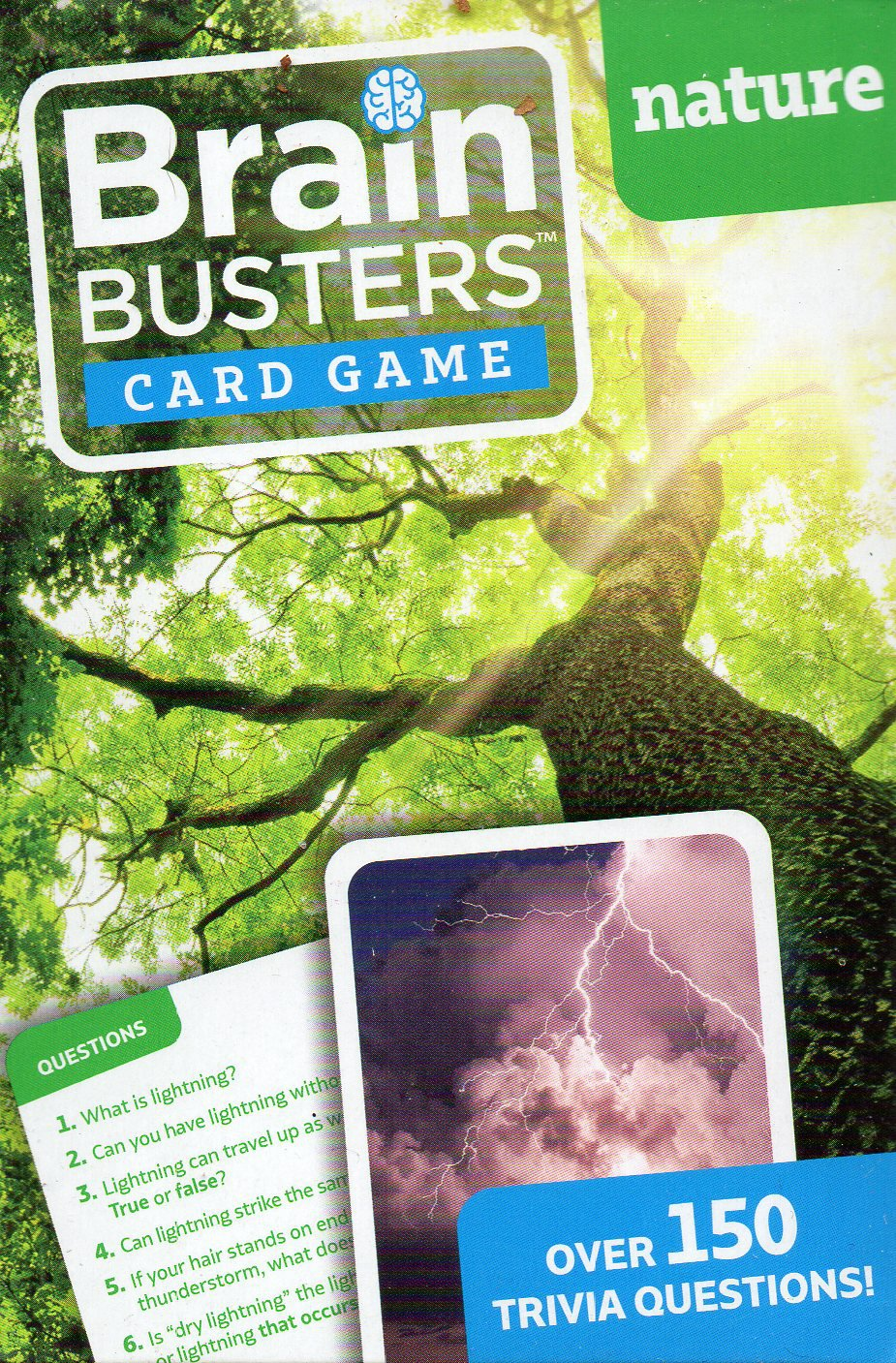 Brain Busters Card Game - Nature - with Over 150 Trivia Questions - Educational Flash Cards